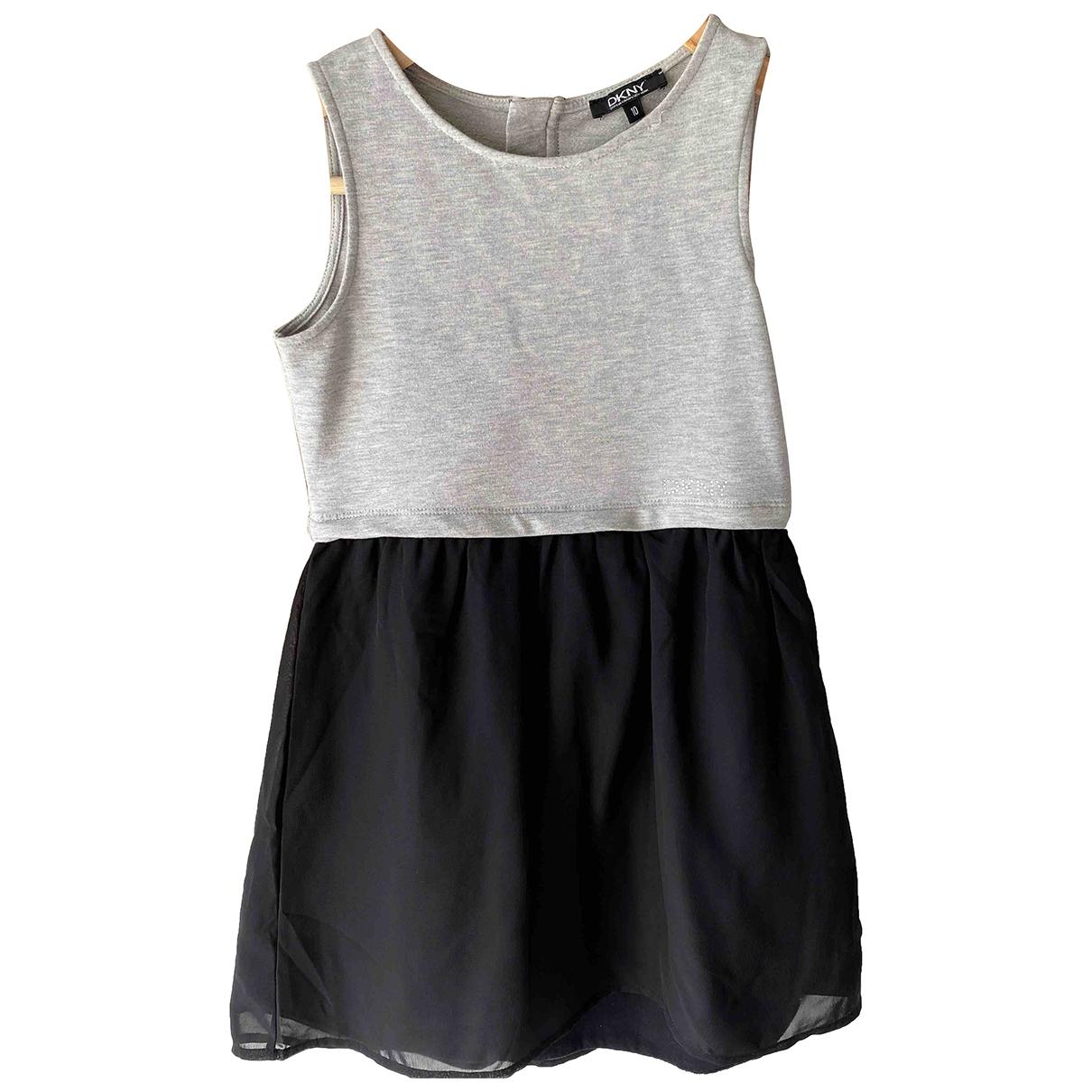Dkny - Robe    pour enfant en coton - elasthane - gris