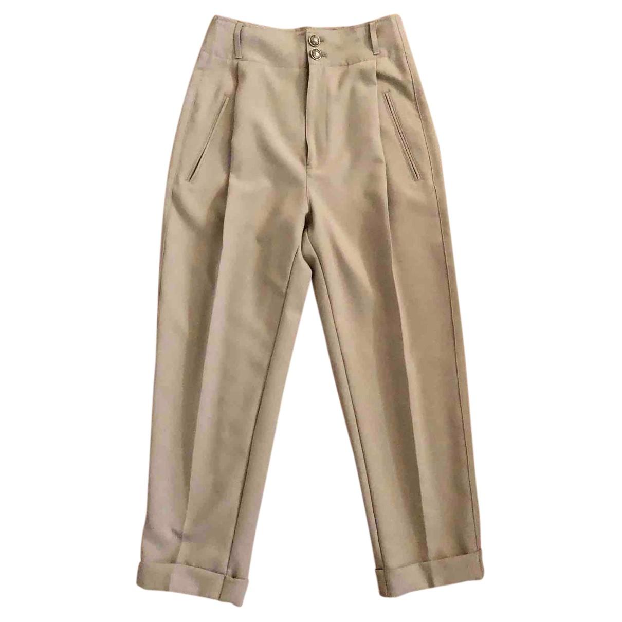 Dondup N Beige Trousers for Women 42 IT
