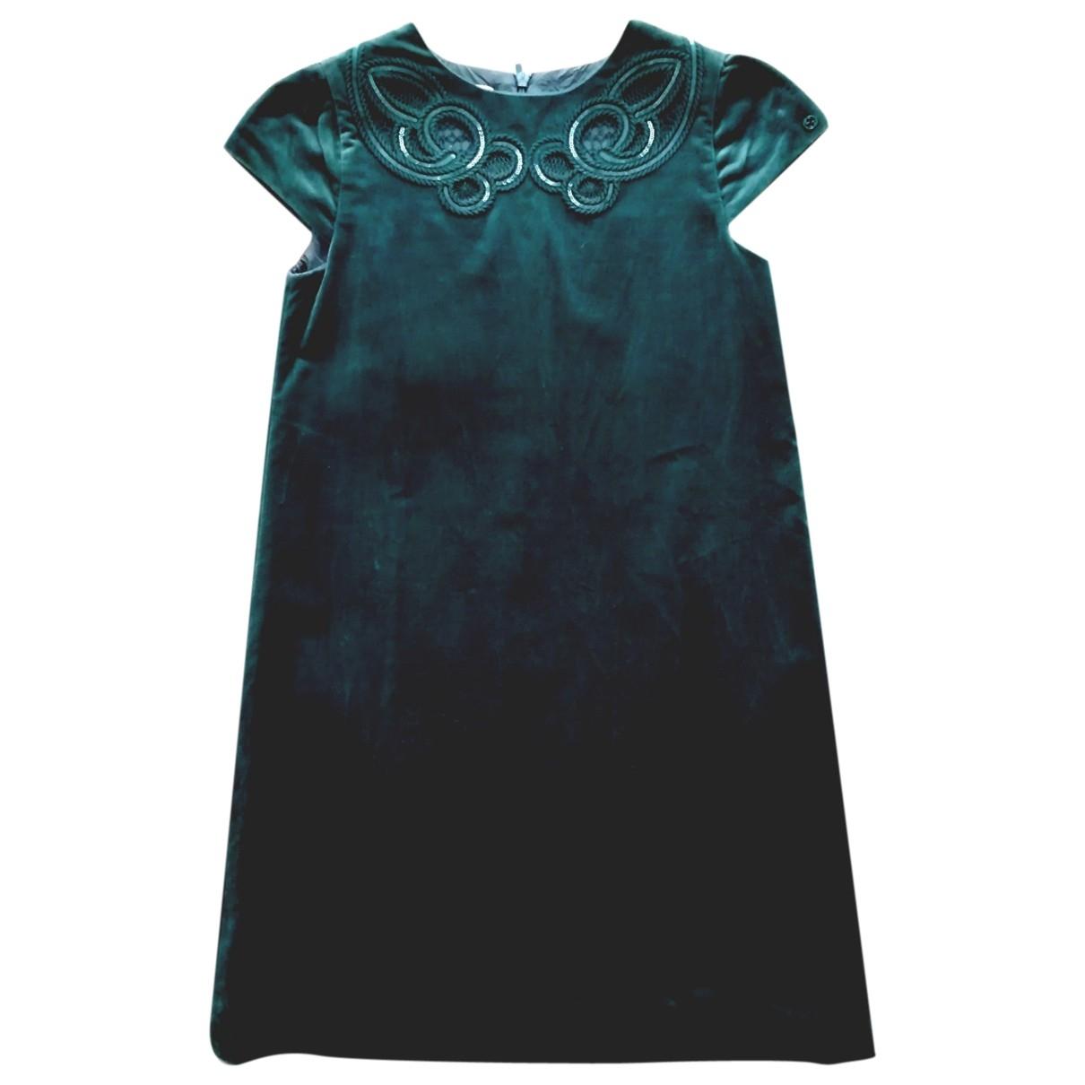 Gucci - Robe    pour enfant en velours - vert