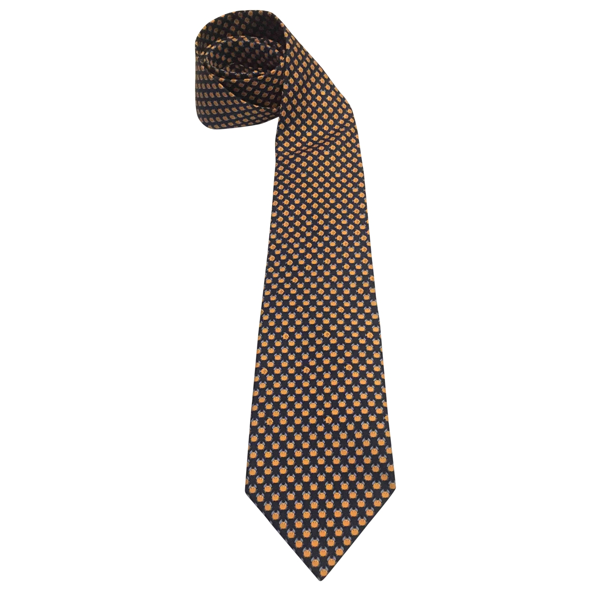 Hermes \N Krawatten in  Marine Seide