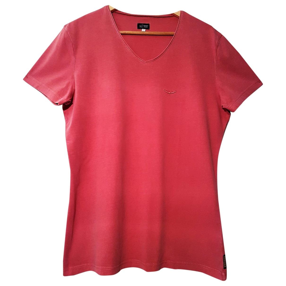 Armani Jean - Top   pour femme en coton - rouge
