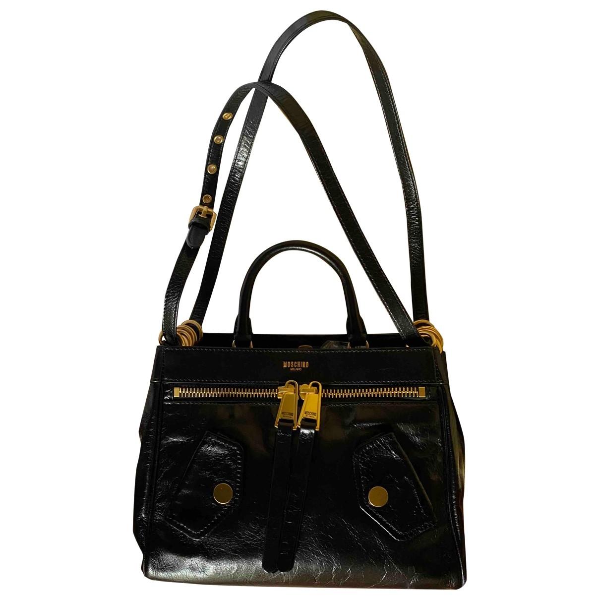 Moschino Biker Black Leather handbag for Women \N