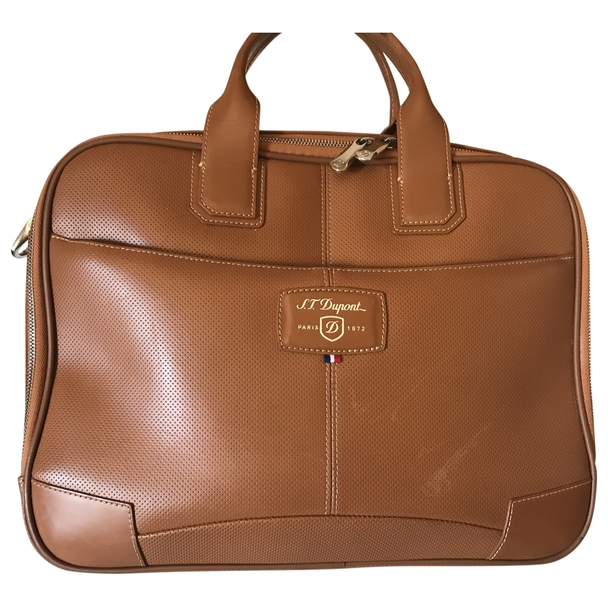 S.t. Dupont \N Camel Leather bag for Men \N