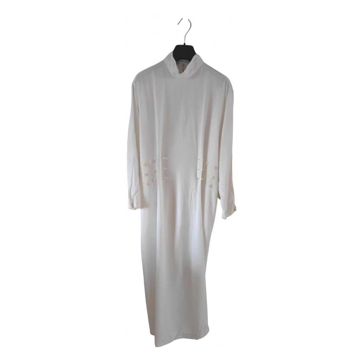 Ann Demeulemeester \N Kleid in  Weiss Viskose