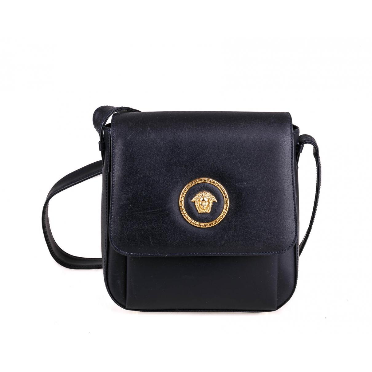 Gianni Versace \N Handtasche in  Marine Leder