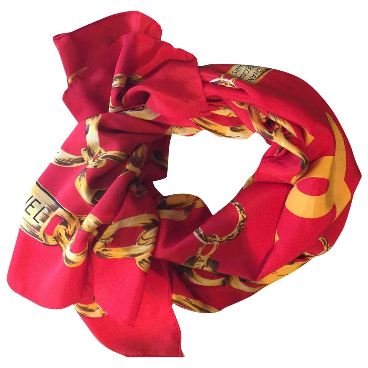 Chanel \N Schal in  Rot Seide