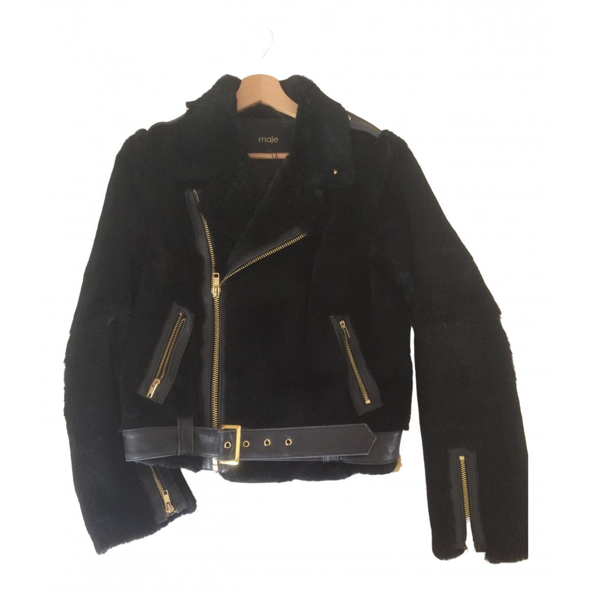 Maje \N Black Rabbit jacket for Women 38 FR