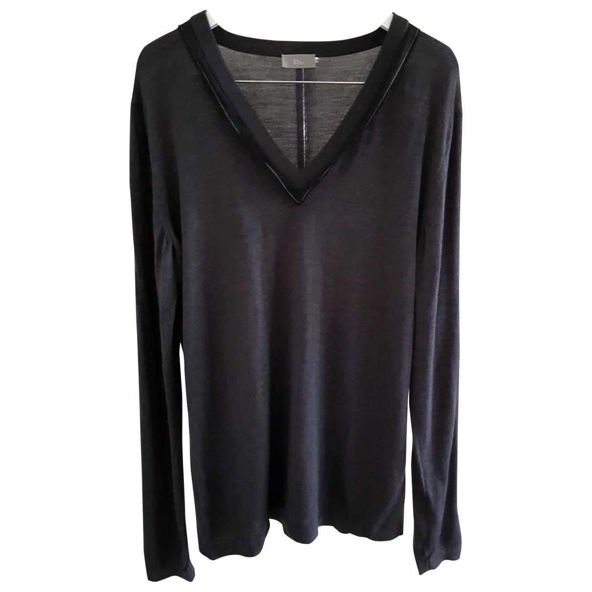 Dior Homme - Pulls.Gilets.Sweats   pour homme en laine - anthracite