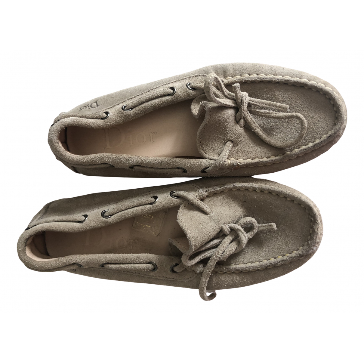 Dior \N Beige Suede Flats for Kids 28 FR