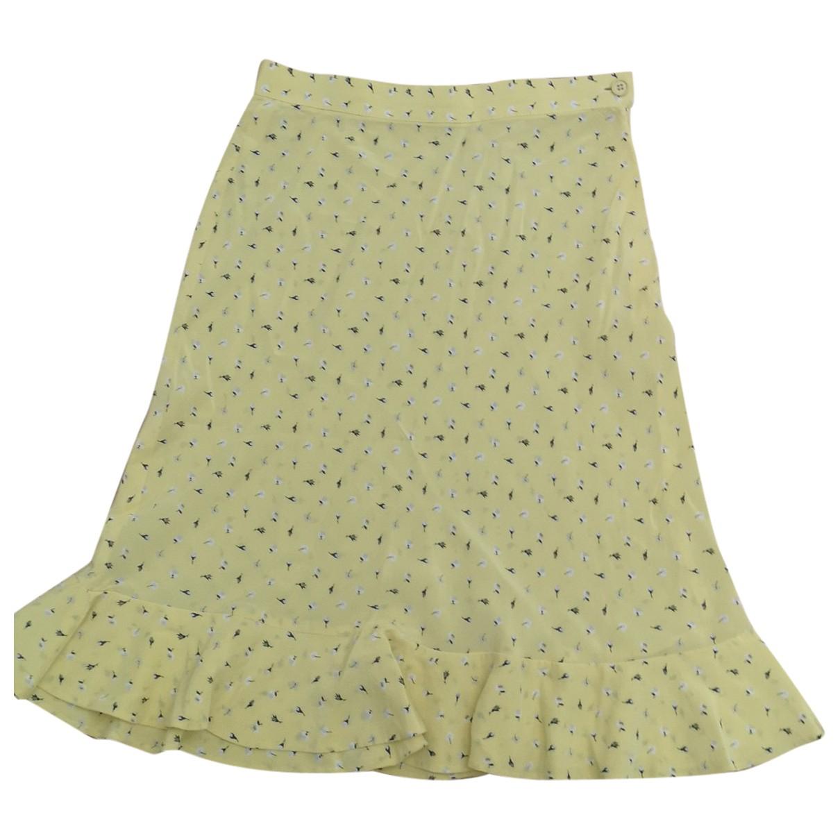 Valentino Garavani - Jupe   pour femme en soie - jaune