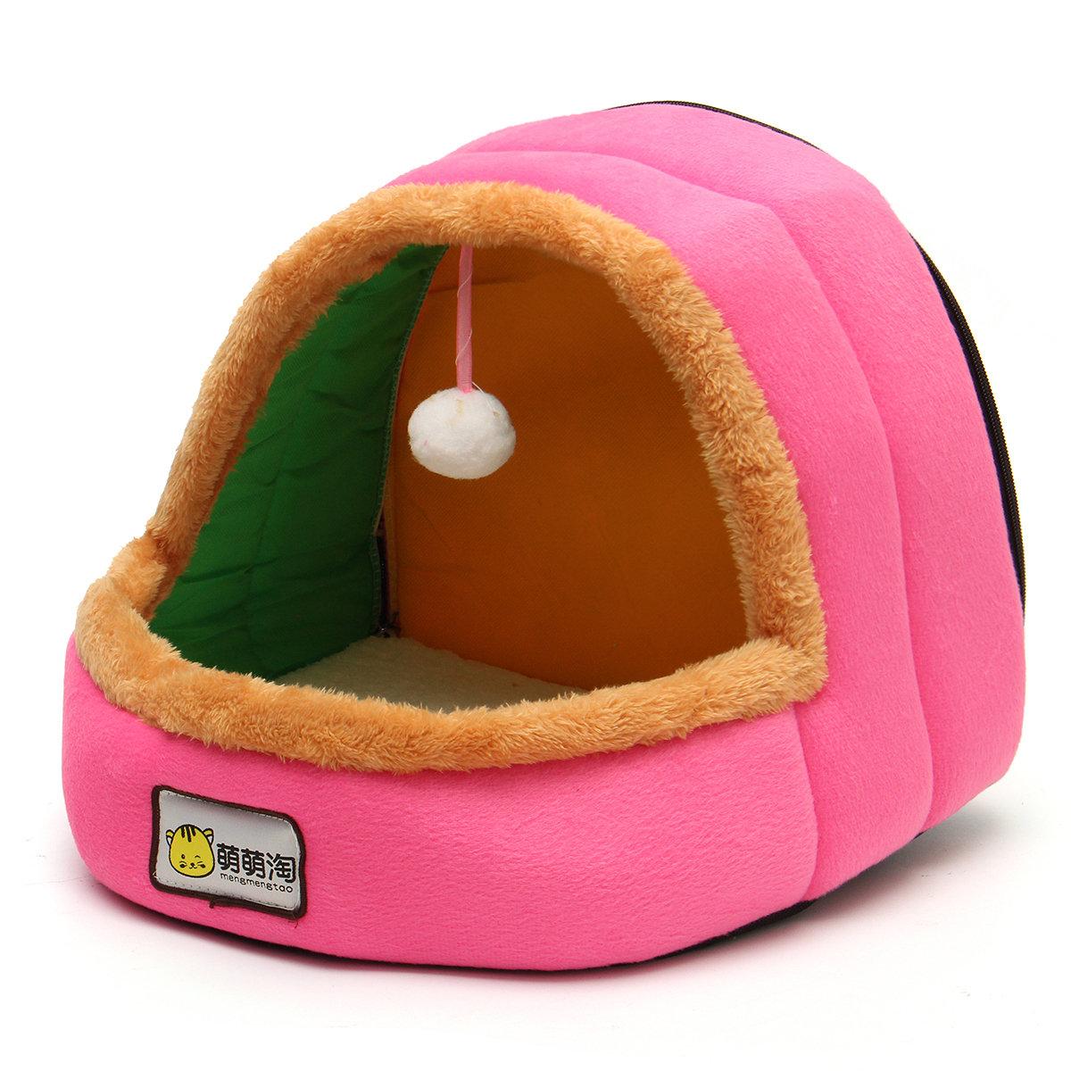 26x29x29cm Mongolian Kennel Cat Pet Nest Dog Pet Warm Beds House Cotton Puppy Mats