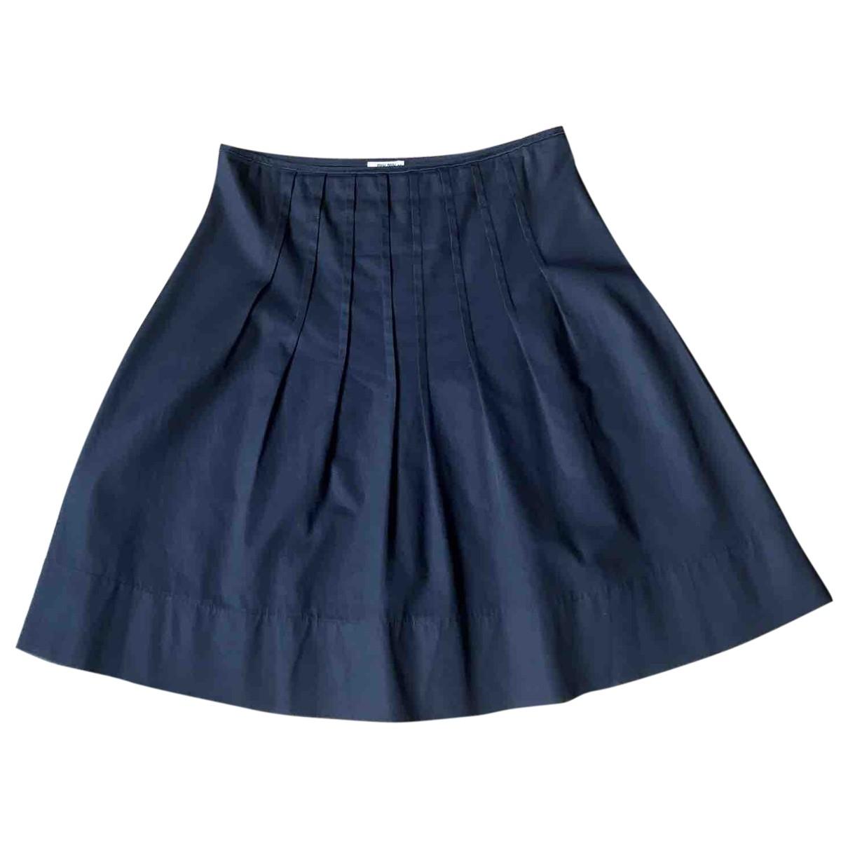 Miu Miu \N Blue Cotton skirt for Women 44 IT