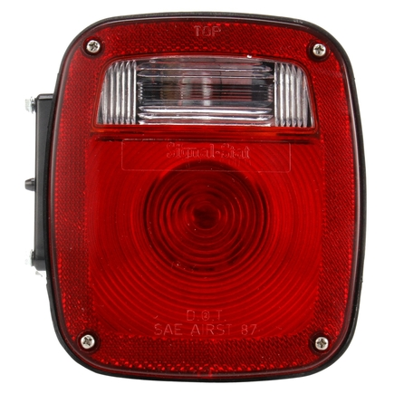 Truck Lite 4023 - Signal Stat, Incandescent, Red/Clear Polycarbonat...
