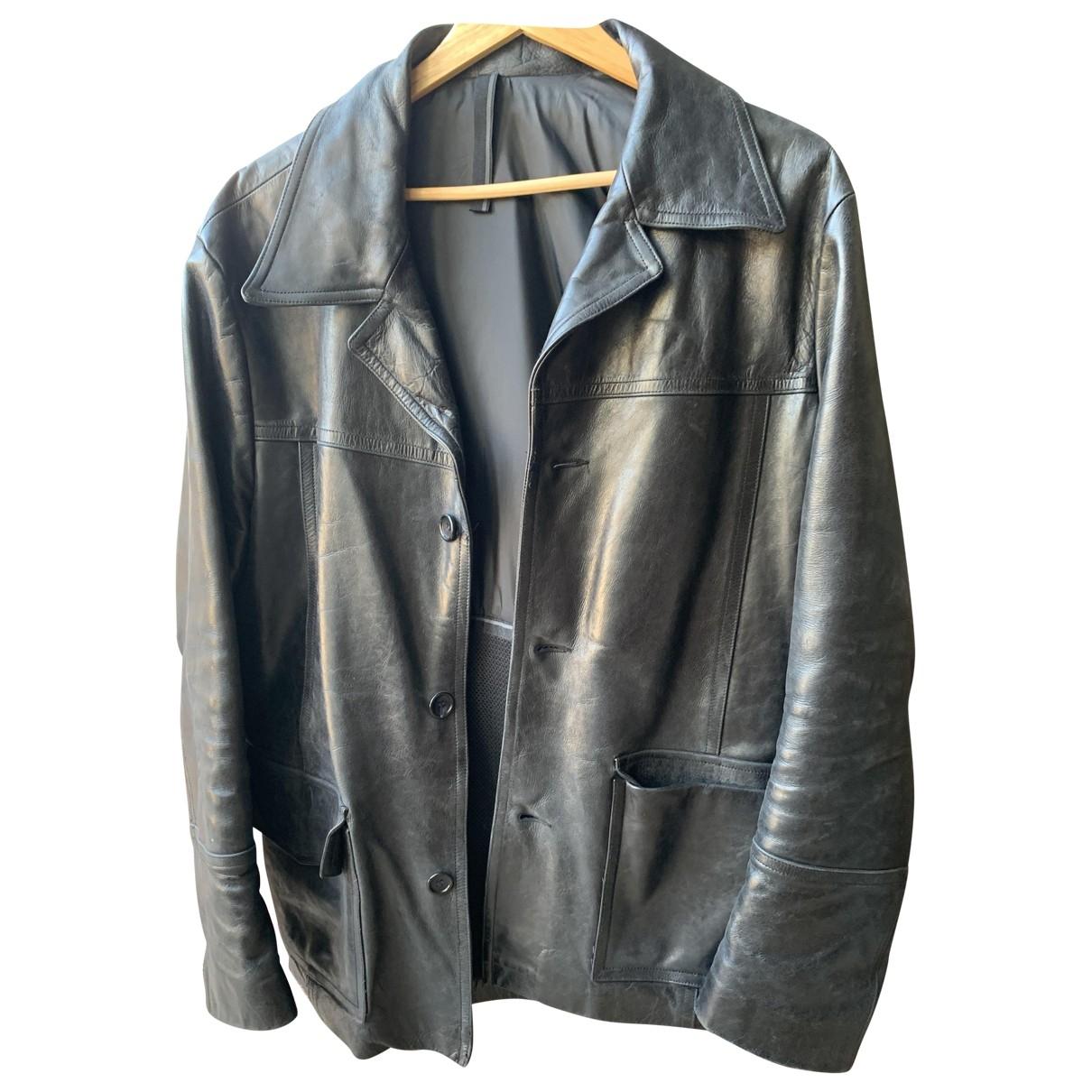 Ventcouvert - Veste   pour femme en cuir - noir