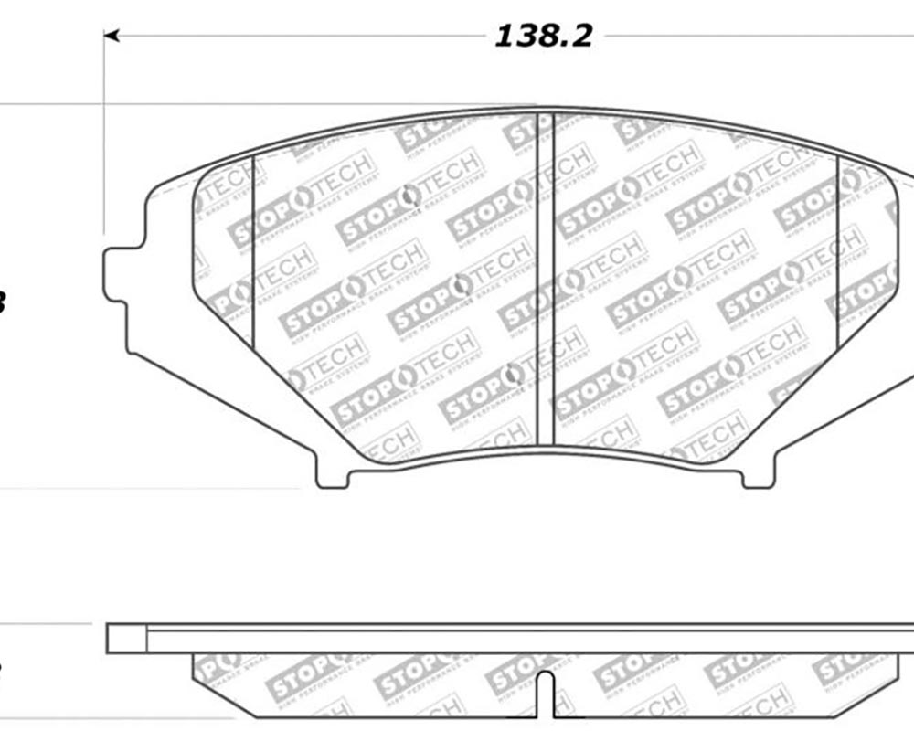 StopTech 309.1011 Sport Brake Pads with Shims/Hardware Front