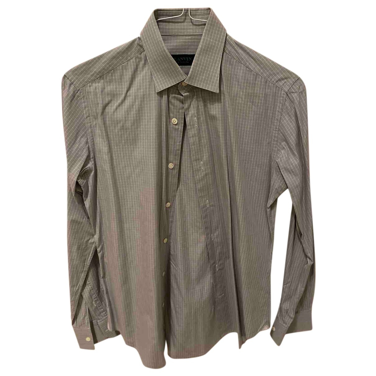 Lanvin N Grey Cotton Shirts for Men 39 EU (tour de cou / collar)