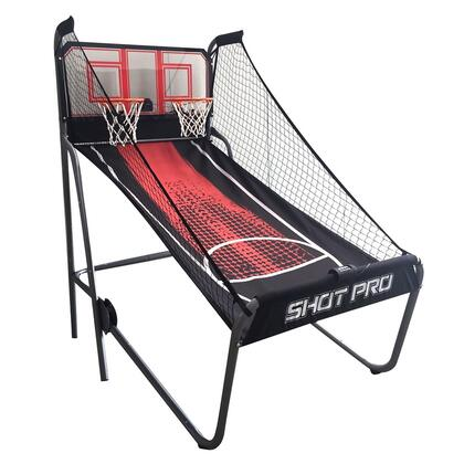 NG2246BL Shot Pro Deluxe Electronic Basketball Game with Powder Coated Frame  Clear Acrylic Backboard and Dual LED Display Electronic
