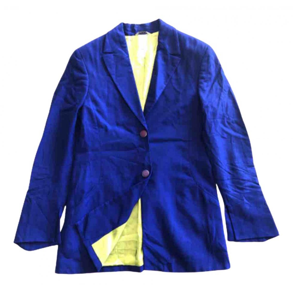 Versace - Veste   pour femme - bleu