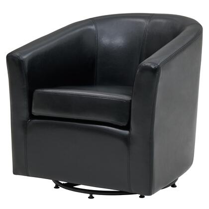Hayden Collection 193012B-23 Chair with 360 Degree Swivel  Stitching Details and Bonded Leather Upholstery in