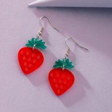 Strawberry Shaped Drop Earrings