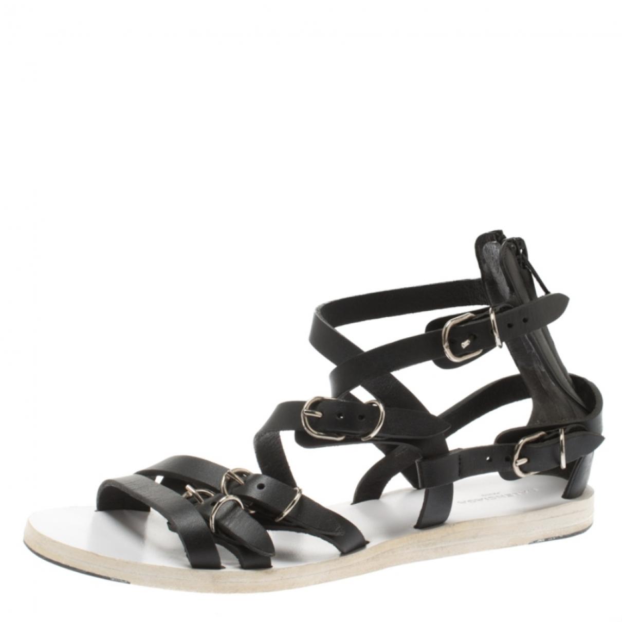 Balenciaga - Sandales   pour femme en cuir - noir