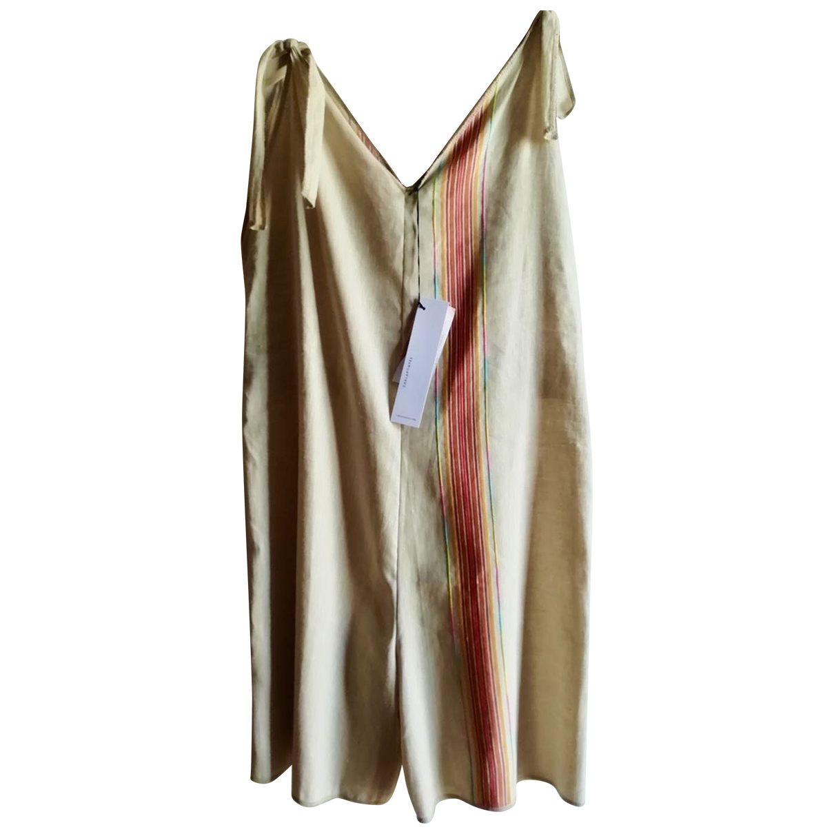 Non Signé / Unsigned \N Ecru Linen jumpsuit for Women S International