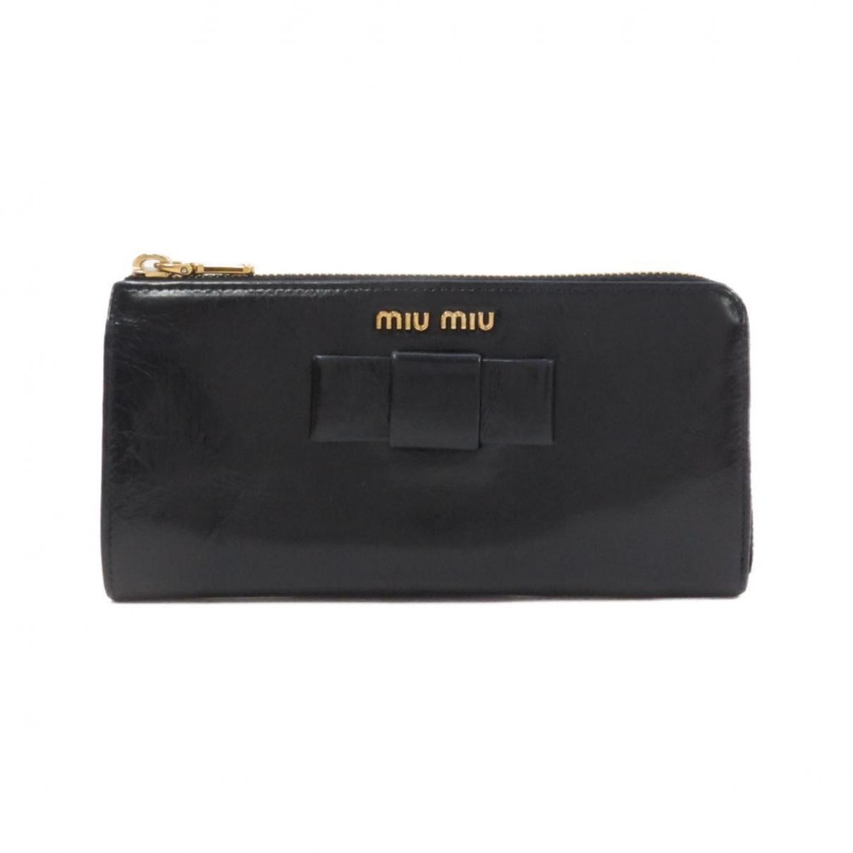 Miu Miu - Portefeuille   pour femme en cuir