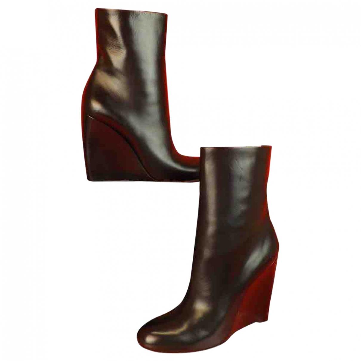 Gucci \N Black Leather Boots for Women 37.5 EU