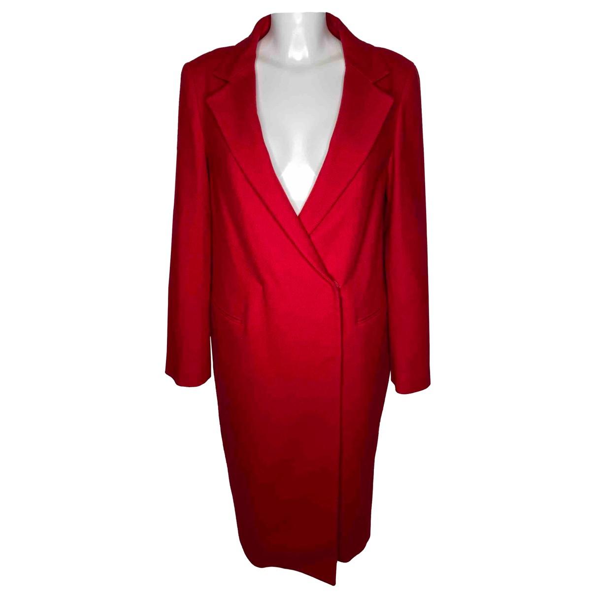 Lanvin \N Red Wool coat for Women 36 IT