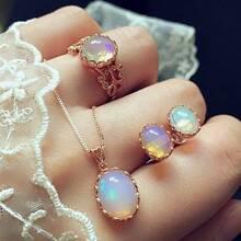 4pcs Oval Jewelry Set