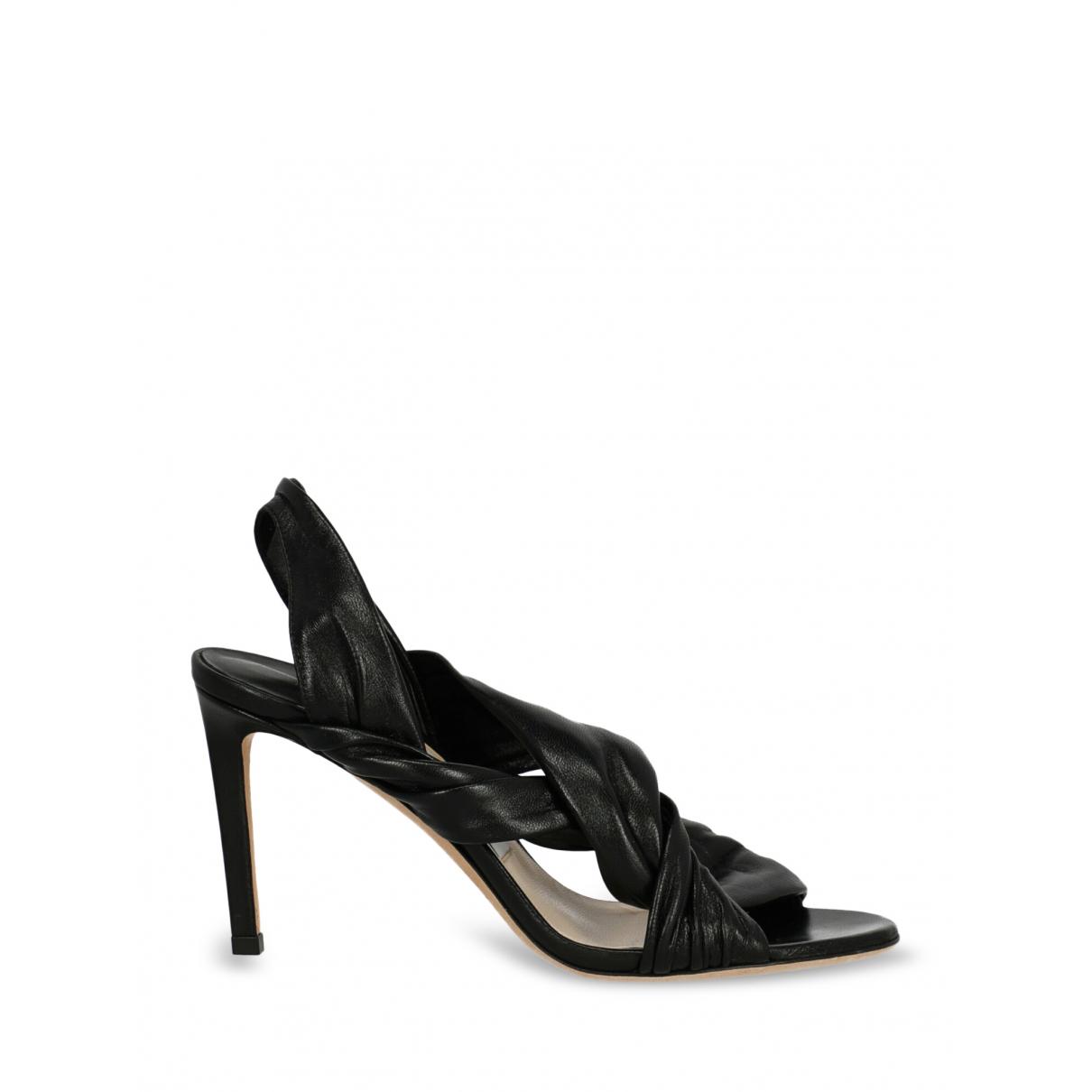 Jimmy Choo - Sandales   pour femme en cuir - noir
