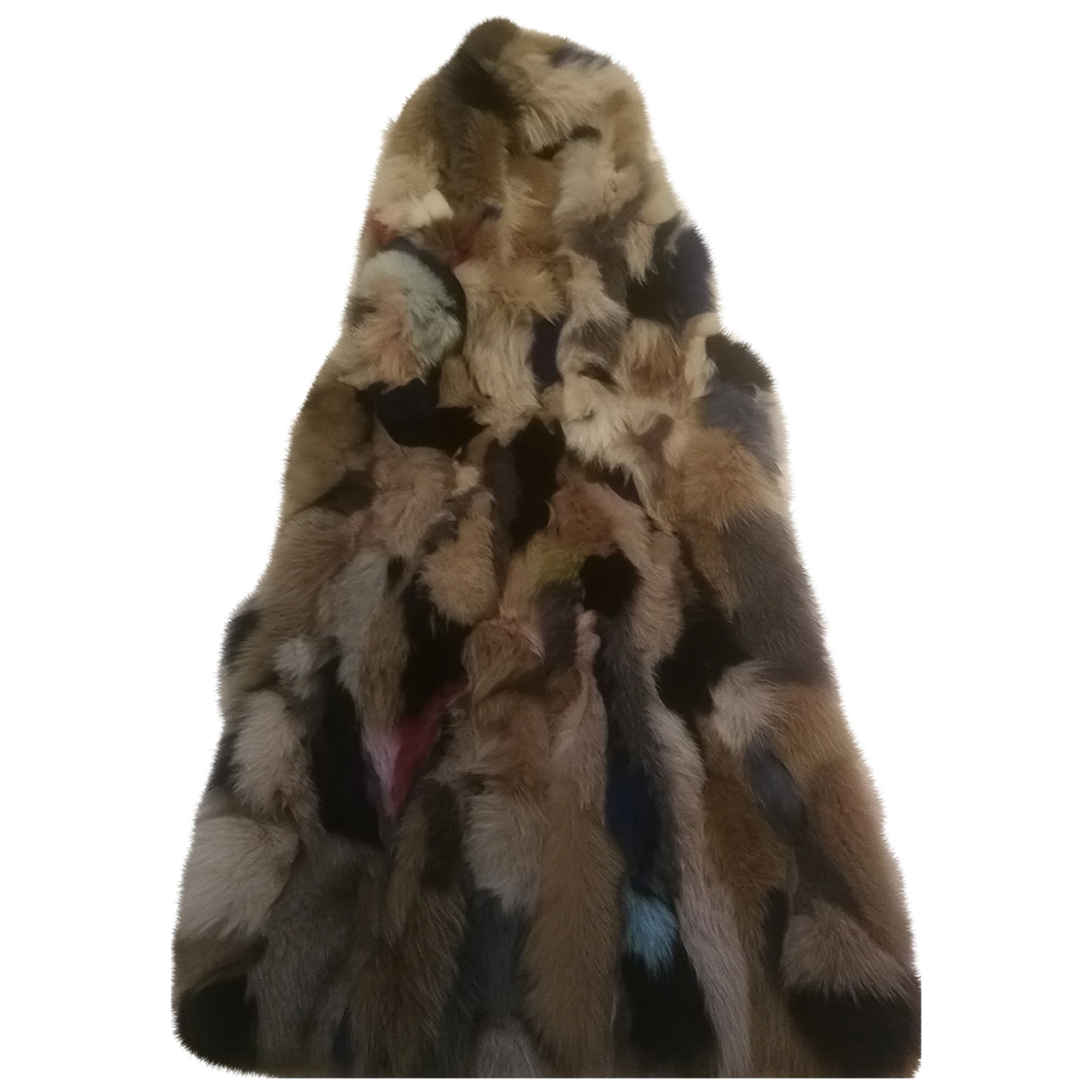 - Veste   pour femme en renard - multicolore