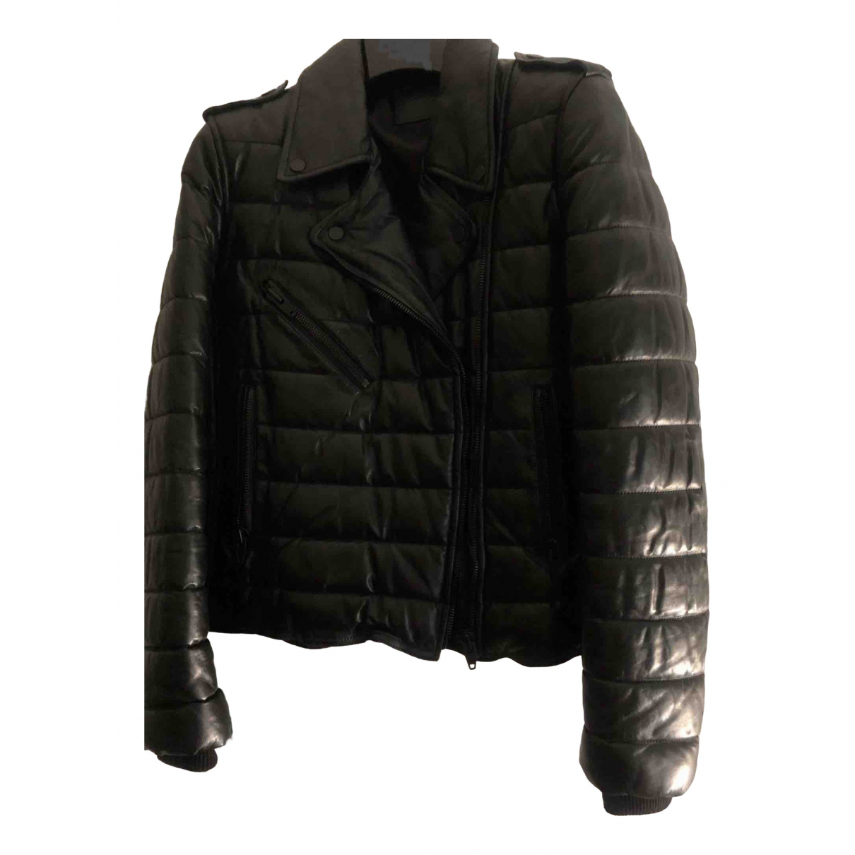 Alexander Wang Pour H&m \N Black Leather jacket for Women 10 US