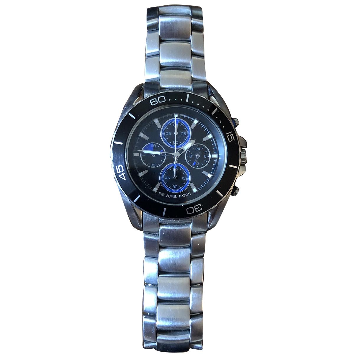 Michael Kors \N Silver Steel watch for Men \N