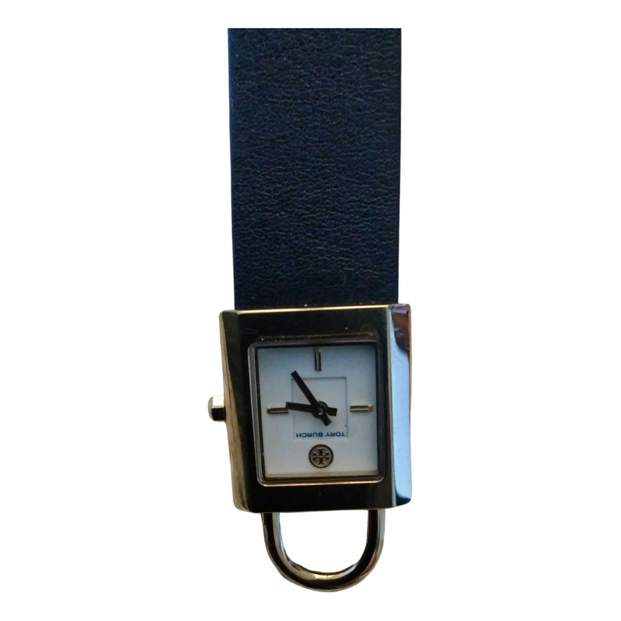 Tory Burch \N Uhr in  Schwarz Vergoldet