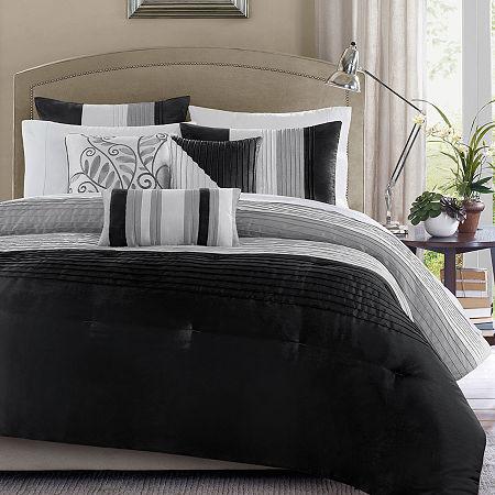 Madison Park Infinity 7-pc. Comforter Set, One Size , Black