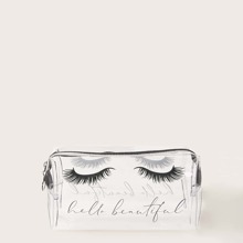 Wimpernmuster klare Makeup Tasche