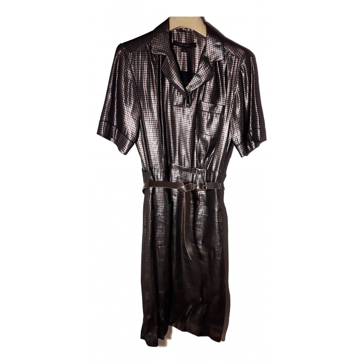 Marc Jacobs \N Kleid in  Silber Seide