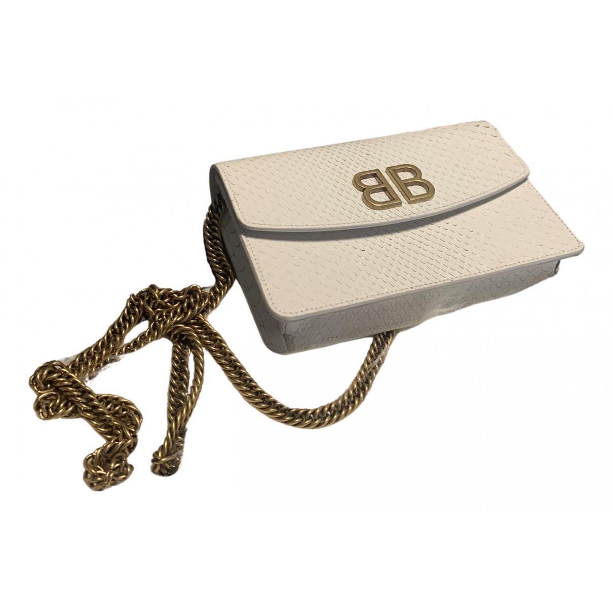 Balenciaga BB chain White Lizard handbag for Women N