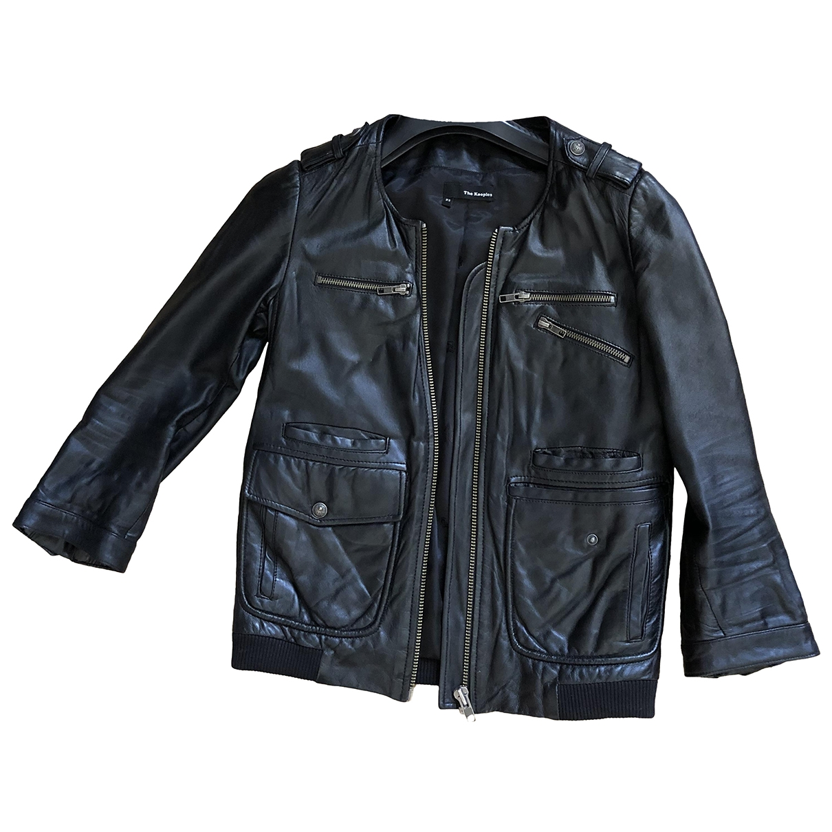 The Kooples \N Black Leather jacket for Women 34 FR