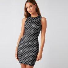 Allover Print Bodycon Dress