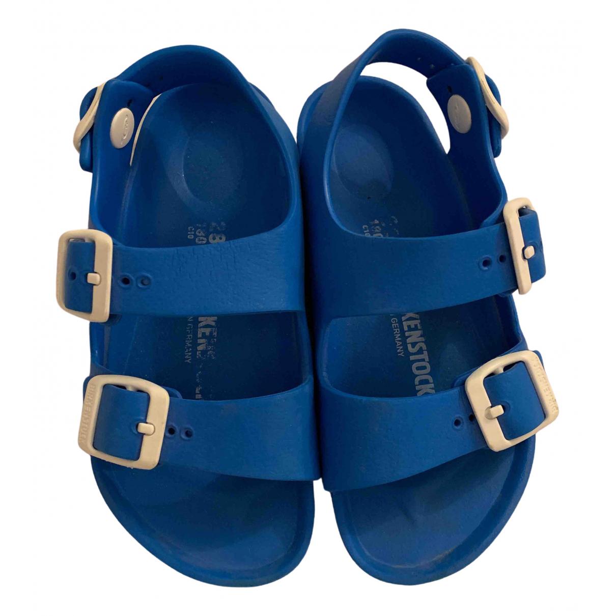 Birkenstock - Sandales   pour enfant en caoutchouc - bleu