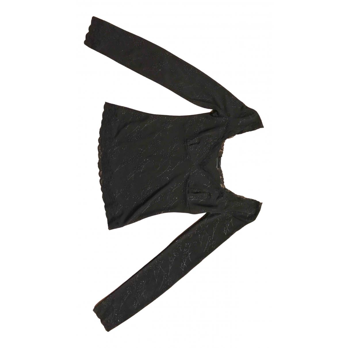 D&g - Top   pour femme en a paillettes - noir