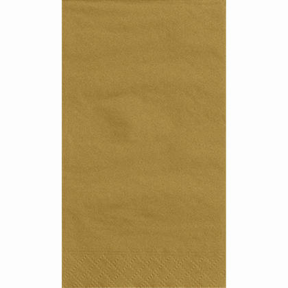 Party Guest Towel Napkins Solid Color 33*40cm 13*16In 2-Ply Gold 20Pcs