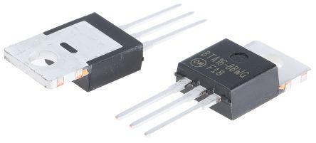Littelfuse BTA16-800BW3G 16A, 800V, TRIAC, Gate Trigger 1.7V 50mA, 3-pin, Through Hole, TO-220 (10)