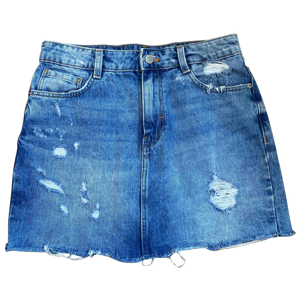 Zara \N Blue Cotton skirt for Women XS International