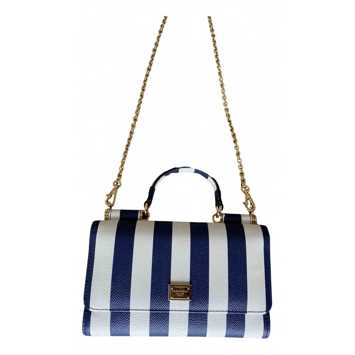 Dolce & Gabbana Sicily Blue Leather handbag for Women N