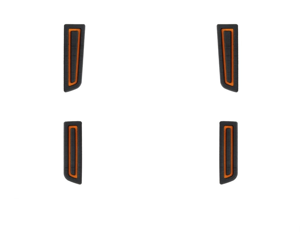 Tufskinz COL008-FOG-X Door Armrest Foam Inserts Fits 2015-2020 Chevrolet Colorado 4 Piece Kit In Black/Orange