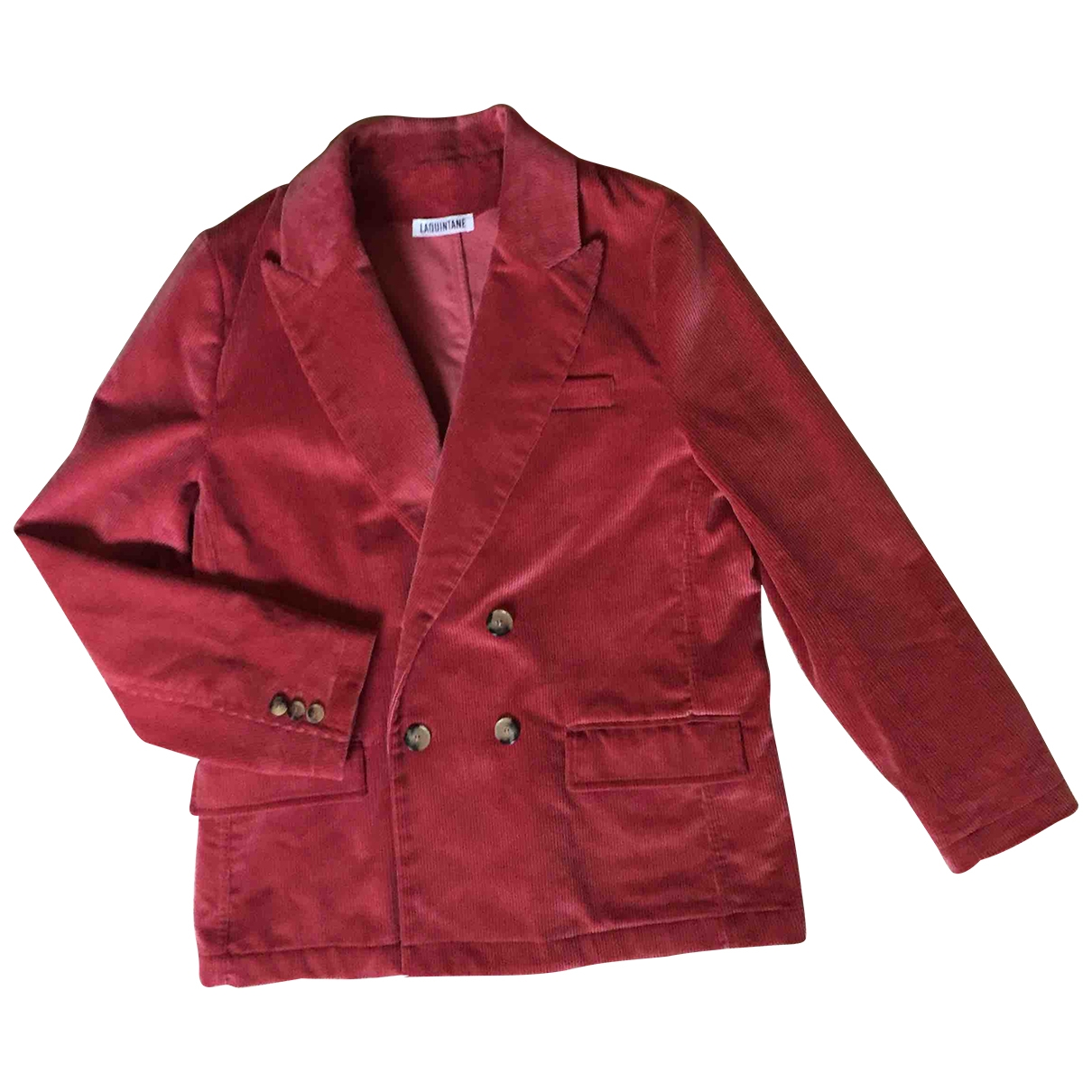 Non Signe / Unsigned \N Jacke in  Rosa Samt