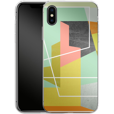 Apple iPhone X Silikon Handyhuelle - Color Block II von Susana Paz